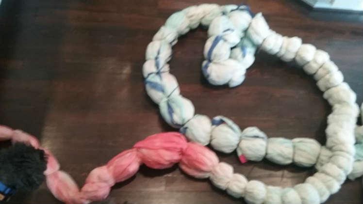 Zip tied before tie dye.