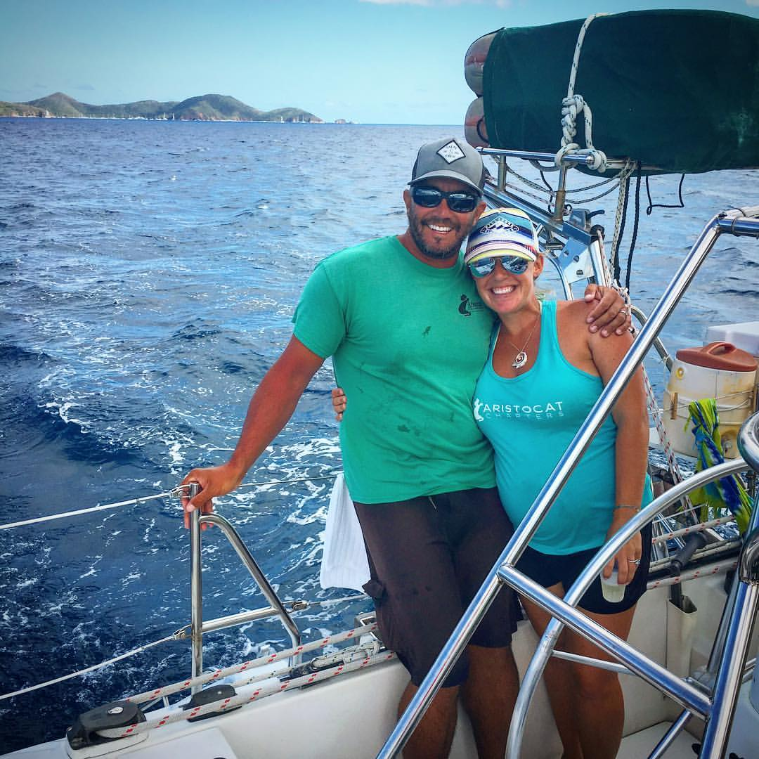 Captain Peter and Jody from Artistocat Charters (facebook)