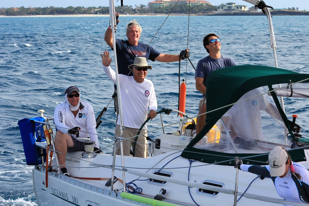 Eddie Evans at the helm of Naut-On Call. Photo by Priscilla Parker for CRC