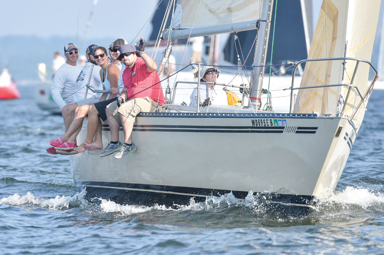 Happy crew at the start of the NASS Race to Oxford 2016. This year's race takes place September 9. Photo by Dan Phelps