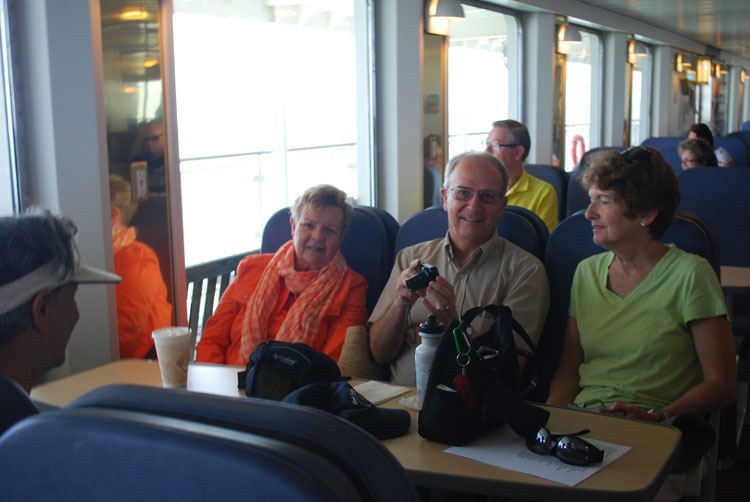 Happy Club Crabtowne photographers on the Lewes to Cape May Ferry