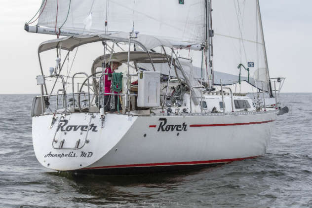 Lauren Anthone on Rover was the only solo sailor in the race.