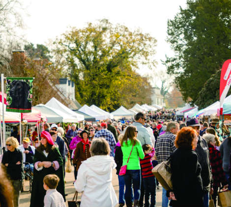 Christmas Market in Yorktown, VA. Photo courtesy of Yorktown Tourism and Development