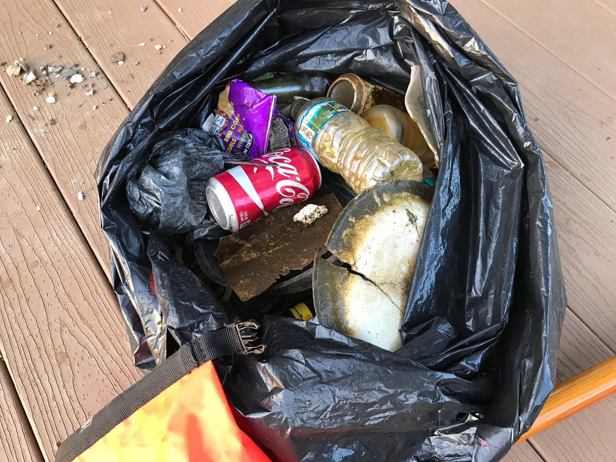 Any paddler who takes a garbage bag along will find plastic bottles, plates, straws, and wrappers, every time.