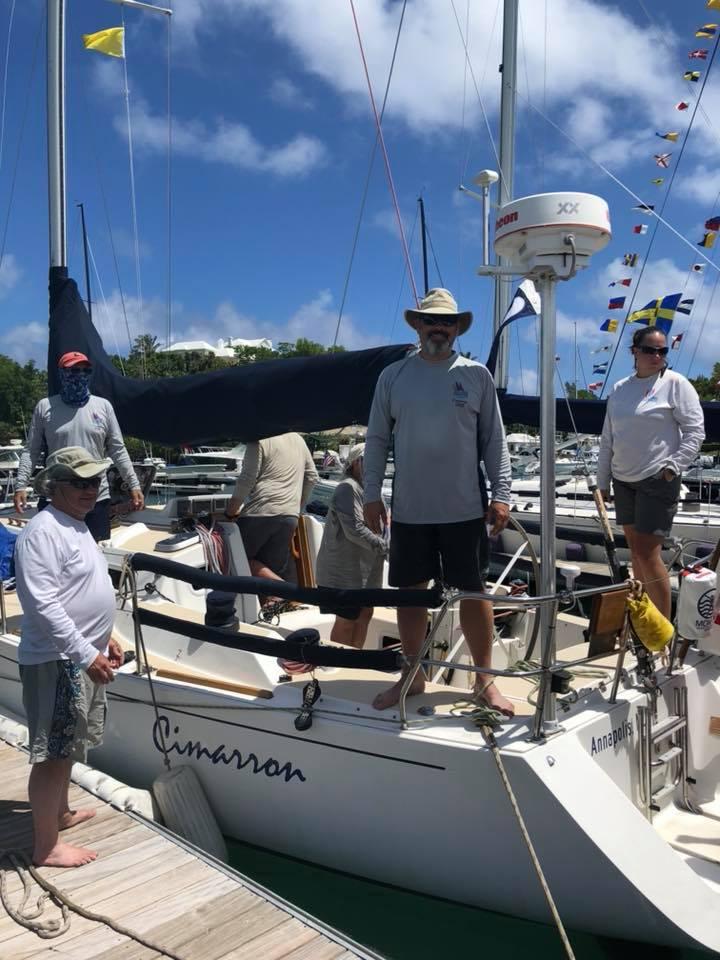 Cimarron crew arrives in Bermuda. Photo courtesy of Annapolis Bermuda FB page