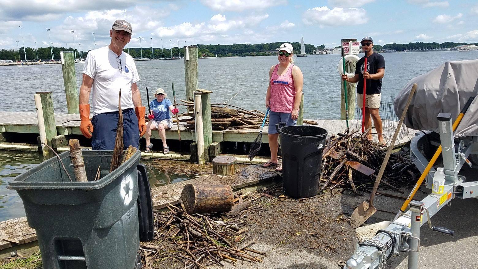 SSA debris cleanup volunteers. Photo courtesy of SSA Facebook page