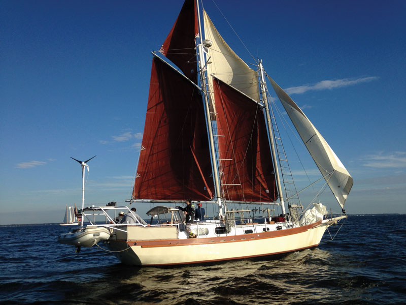 Leigh and Dick Woodling's Adventure placed first in Class A at the Great Chesapeake Bay Schooner Race