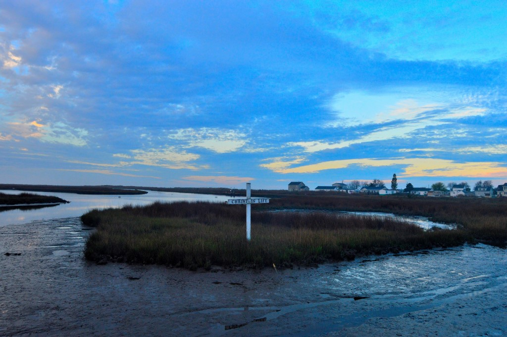 Cross on Tangier Island. Photo by Tom Pelton