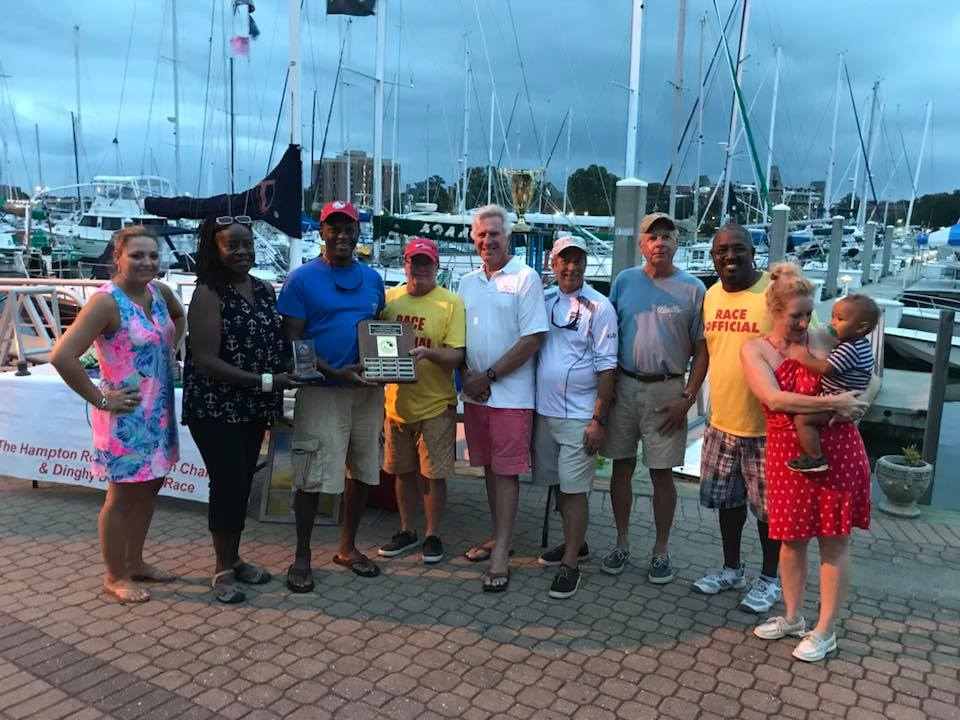 2018 Tyler Patnaude Memorial Award Winner, Mike Barclift. Photo Hampton Roads Sunfish Challenge Facebook