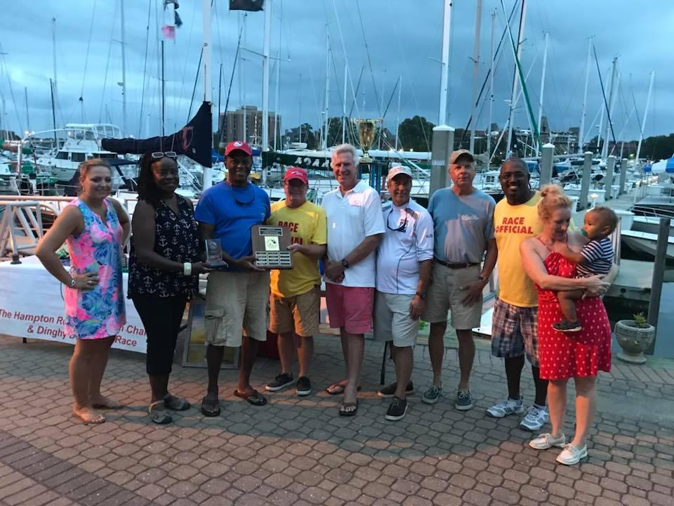 2018 Tyler Patnaude Memorial Award Winner, Mike Barclift. Photo Hampton Roads Sunfish Challenge Facebook