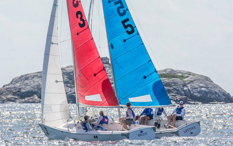 SSA and Eastern YC sailors squaring off. Photo by Bruce Durkee