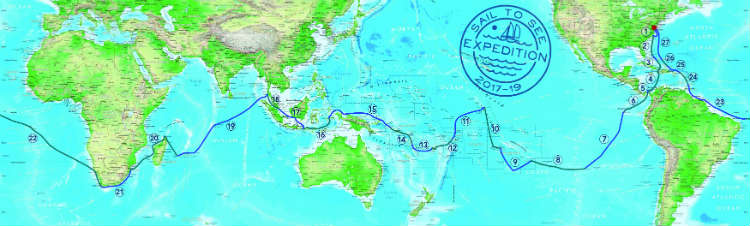 The route! (seven circumnavigation prep tips)
