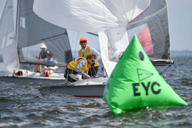 505 sailors off Annapolis. Photo by Christophe Favreau