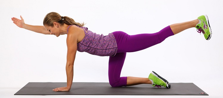 This is a great alternative or addition to the plank. It takes the pressure off of your forearms but still provides a great workout. -- From lifefitnessbydane.com