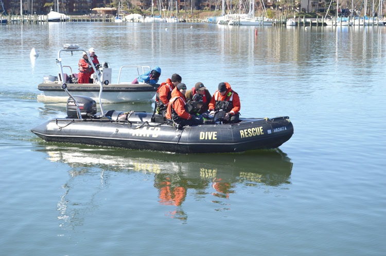 The Mattie F. Dean expedition included members of the Anne Arundel County Fire Dept. Photo courtesy of BCC