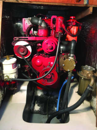 Know your boat and the potential trouble spots, such as for this engine: water filter, water pump, and/or fuel filter.