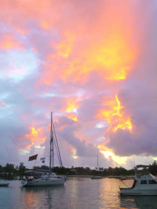 Sunrise in the Abacos.