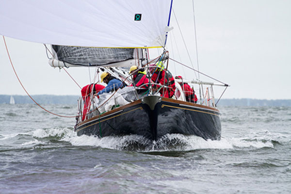 Actaea at the start of the 2014 Newport Bermuda Race