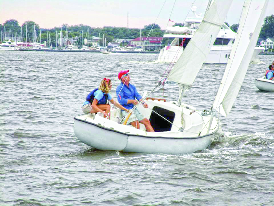 Annapolis Saiiling School newly refurbished its Rainbow fleet. Purpose-built teaching boats, the Rainbows are sturdy and reliable. Photo courtesy of Annapolis Sailing School