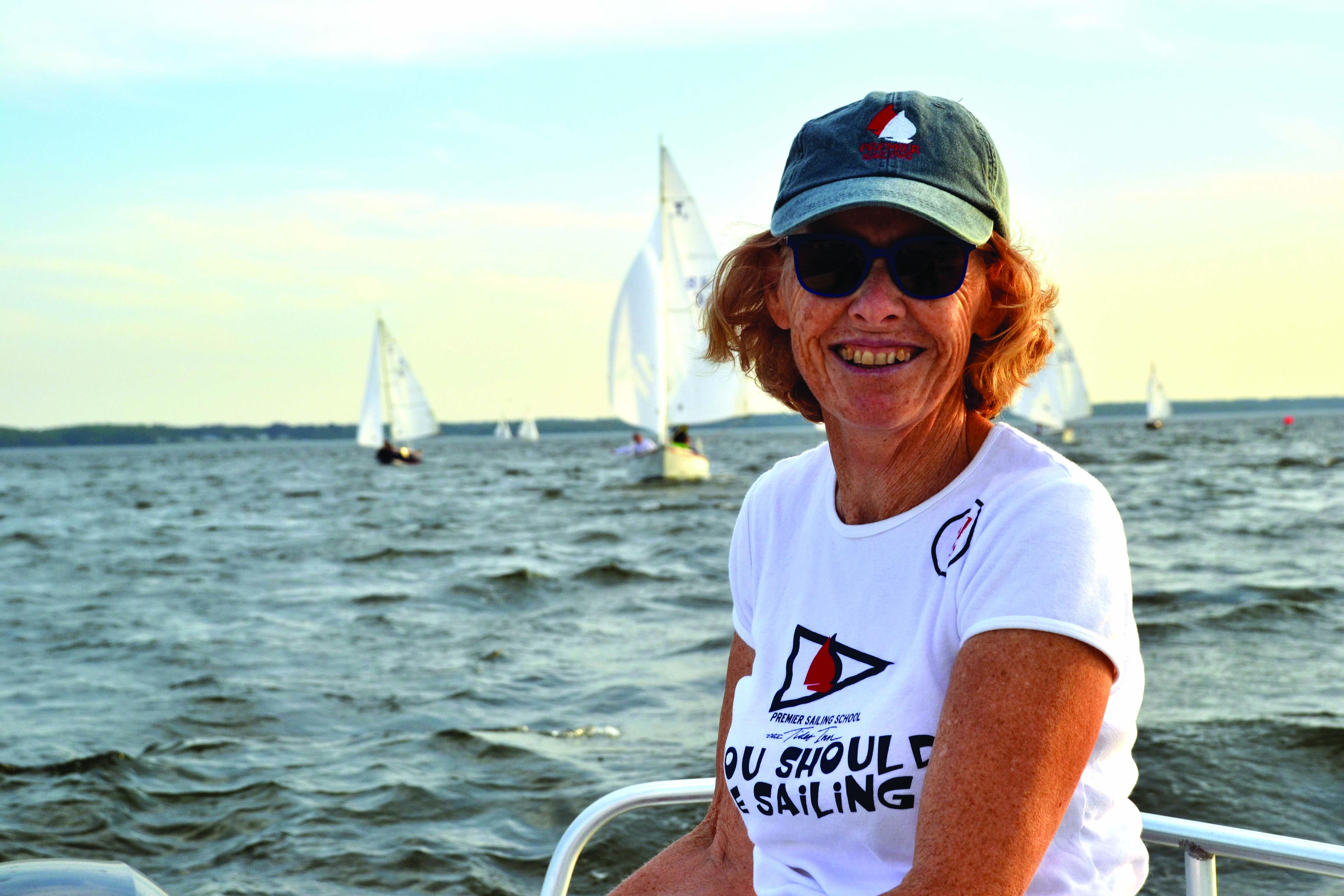 monitoring a sailing race
