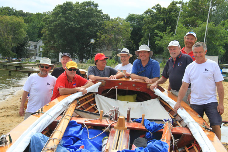 Local sailors welcomed the Aussie 18s and crew to Annapolis and helped with their launch. Photo by Craig Ligibel