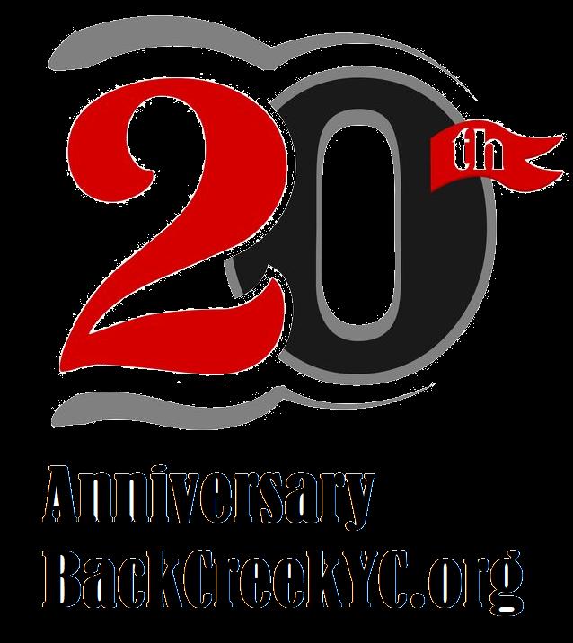 Back Creek Yacht Club 20 year logo