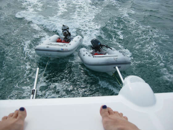 It was great fun to have two dinghies while it lasted...