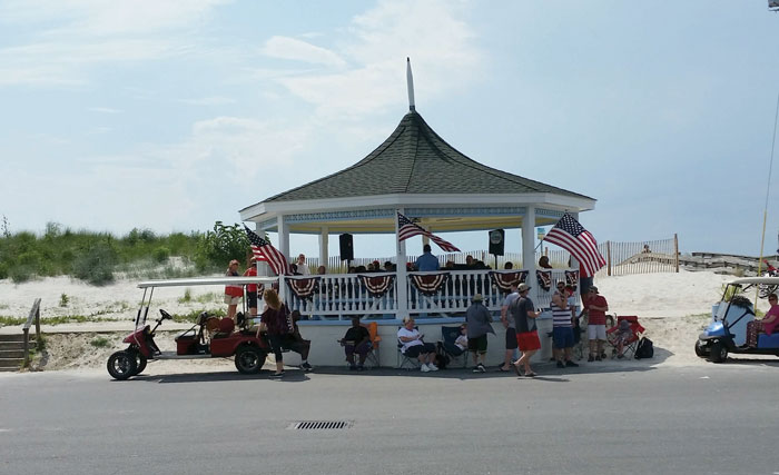 Bandstand at Cape Charles, VA. Photo by Kathy Wright