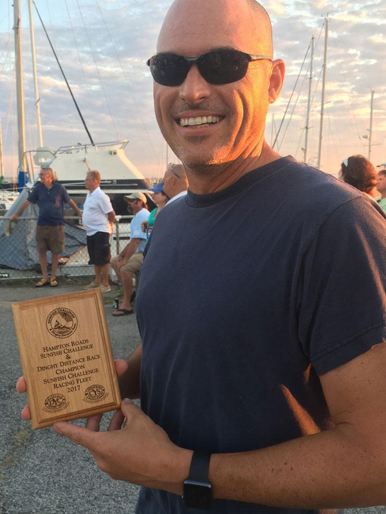 Bert Sanford, winner of the Sunfish Racing Fleet for the sixth consecutive year.