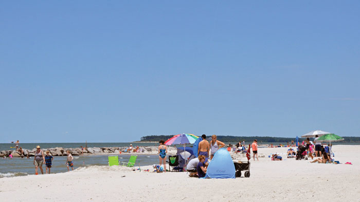 Cape Charles has a great beach with fine, white sand. Photo courtesy of the Eastern Shore Tourism Commission
