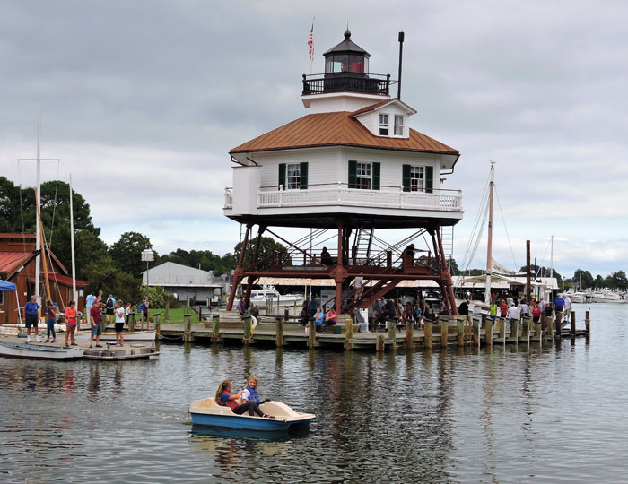 Calvert Marine Museum's Drum Point Lighthouse. Photo by Robert Hurry