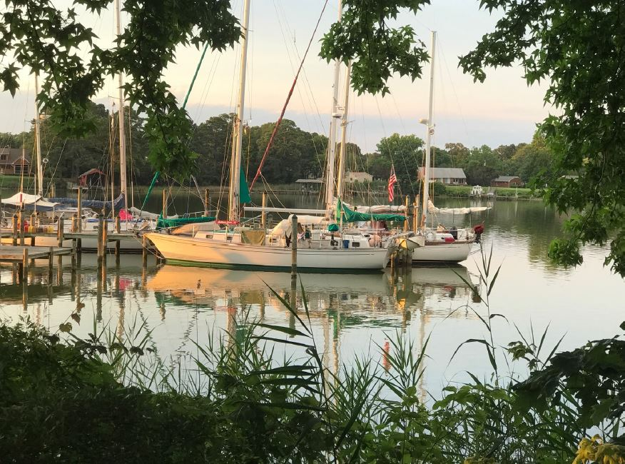 Peacefully docked