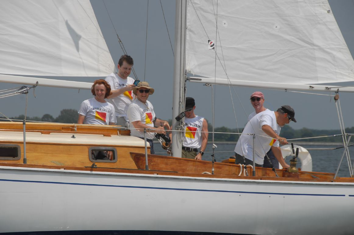 The Freal brothers aboard Rainbow