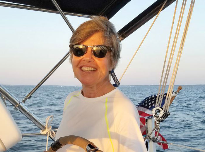 Lauren Anthone on a calmer day sailing with friends.