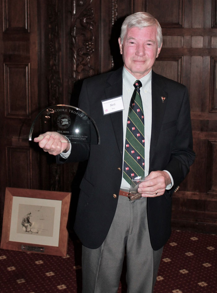Neil Ross receives the Cooke Award