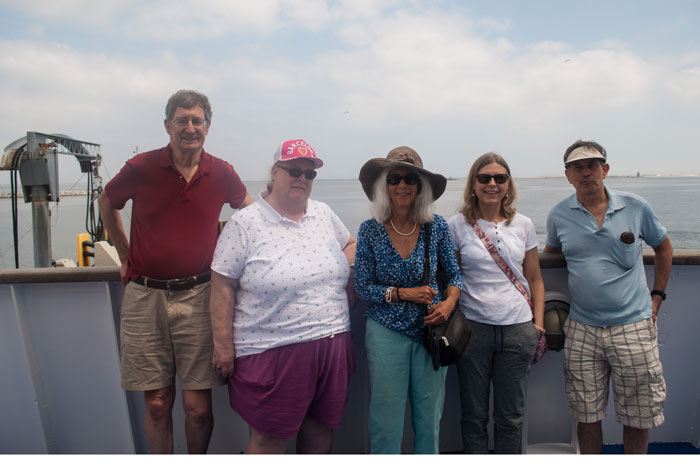 Club Crabtowne members on Cape May ferry