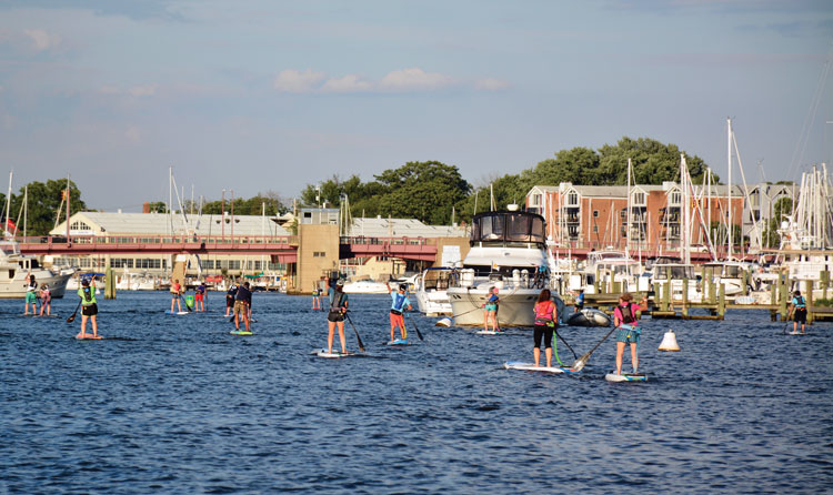 The Capital SUP race series keeps the paddling community engaged through the fall and winter. Photo courtesy of Capital SUP