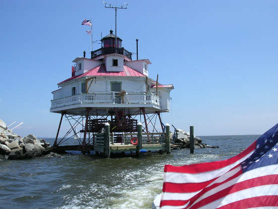 This photo was taken in 2007. There have been significant renovations to Thomas Point Lighthouse since then. Photo by Molly Winans/ SpinSheet