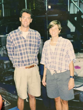 Dave Gendell and Mary Ewenson that first summer in 1995.