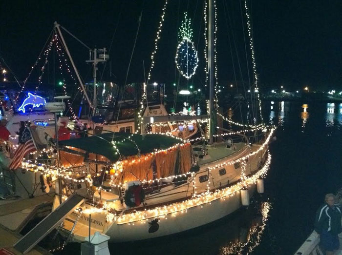 Downtown Hampton Lighted Boat Parade. Photo courtesy of Hampton Convention and Visitor Bureau