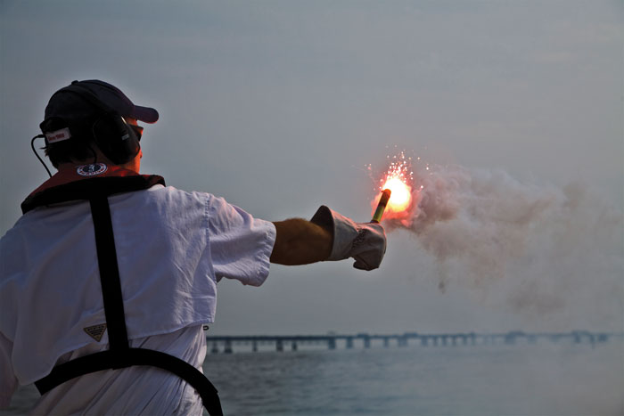 Do you know how to properly dispose of expired flares? Photo courtesy of BoatUS Foundation