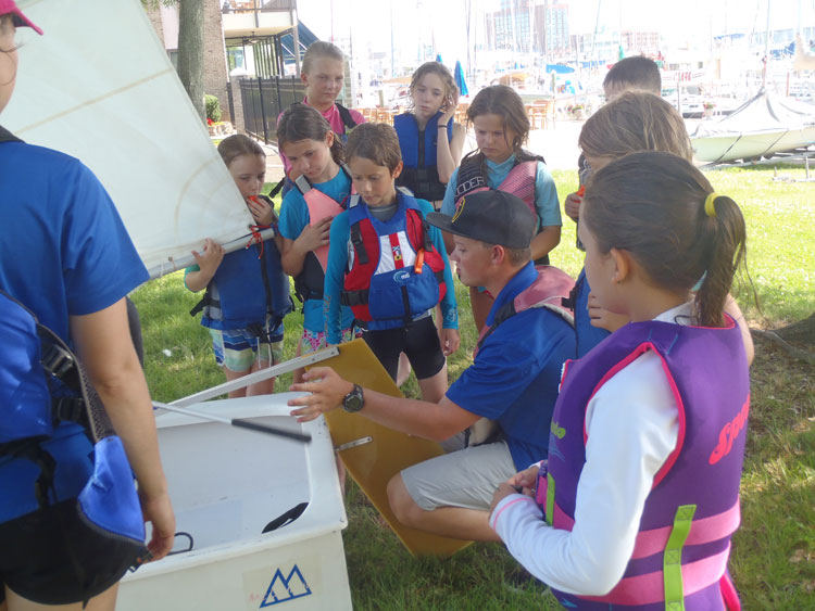 Sailing lessons make a great gift for kids who love the water. Photo courtesy of Hampton Yacht Club