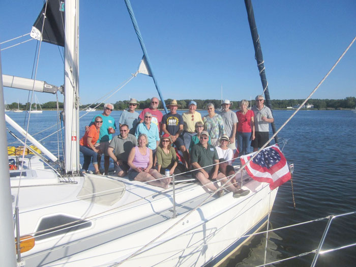 There are times on the Bay when we yearn for fun and shared experiences. That's where sailing clubs come in. Photo courtesy of Laurie Flanagan