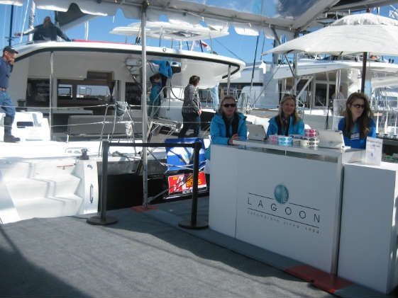 Lagoon multihulls at the U.S. Sailboat Show.