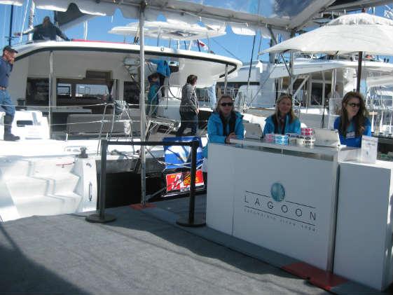Lagoon multihulls at the U.S. Sailboat Show.