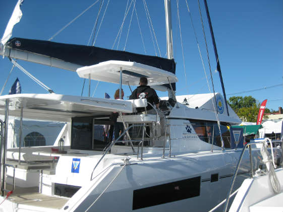 Multihulls at the U.S. Sailboat Show.