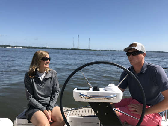 Mary Ewenson and James Allsopp of Dream Yacht Charter