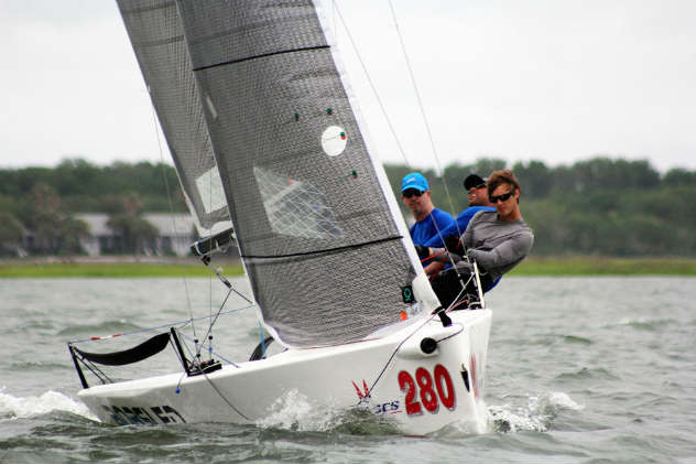 Bob Moran and team at the Melges 20 Nationals in Charleston. Photo by Priscilla Parker