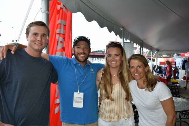 Cole Allsopp and 2018 J/22 World Champions Zeke Horowitz, Emmy Stewart, and Jo Ann Fisher (missing Jackson Benvenutti). Photo by SpinSheet