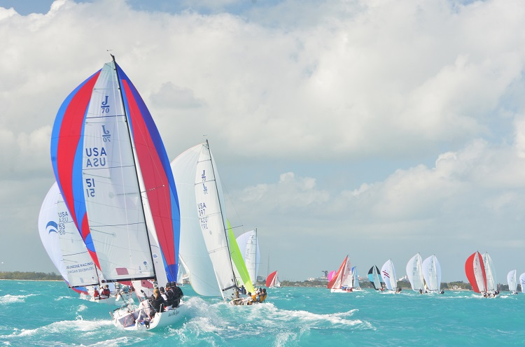 J/70's would normally be blasting downwind in Key West in January -- by Shannon Hibberd